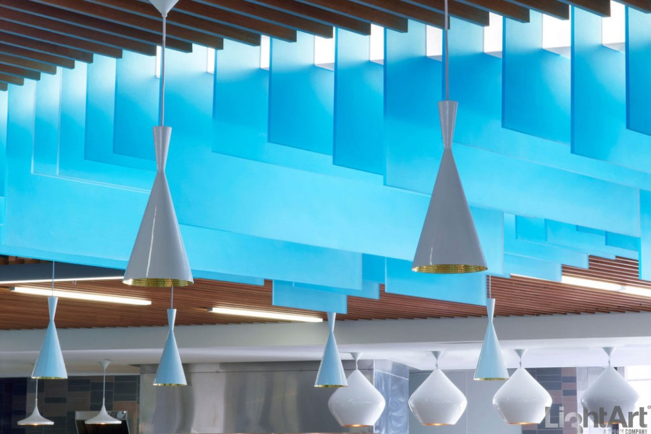 Lightart Chroma Fins Ceiling Application Lightart